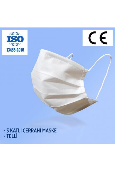 MEDİCAL MASKE TELSİZ - 50Lİ  KUTU